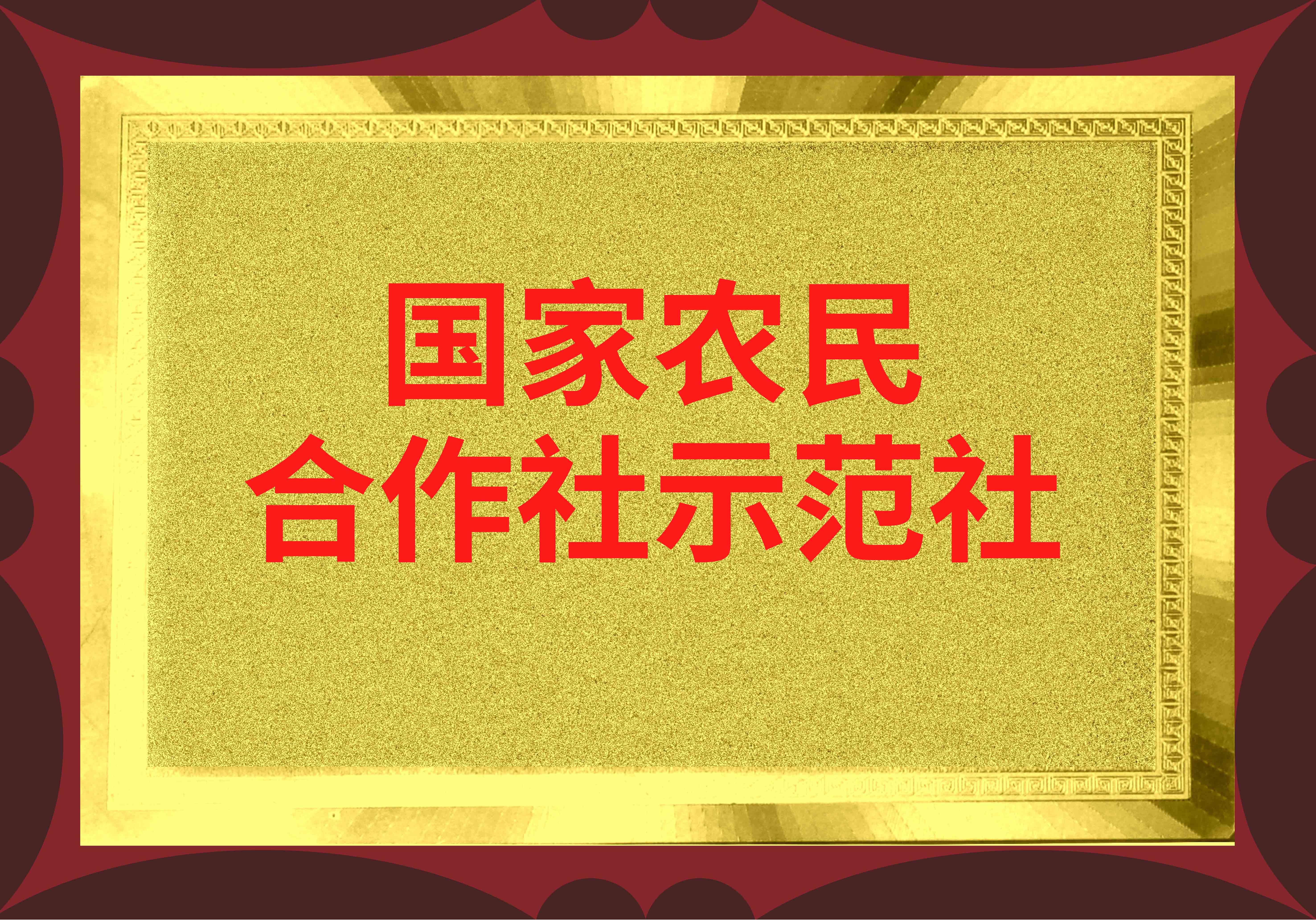【国家农民专业合作社示范社】